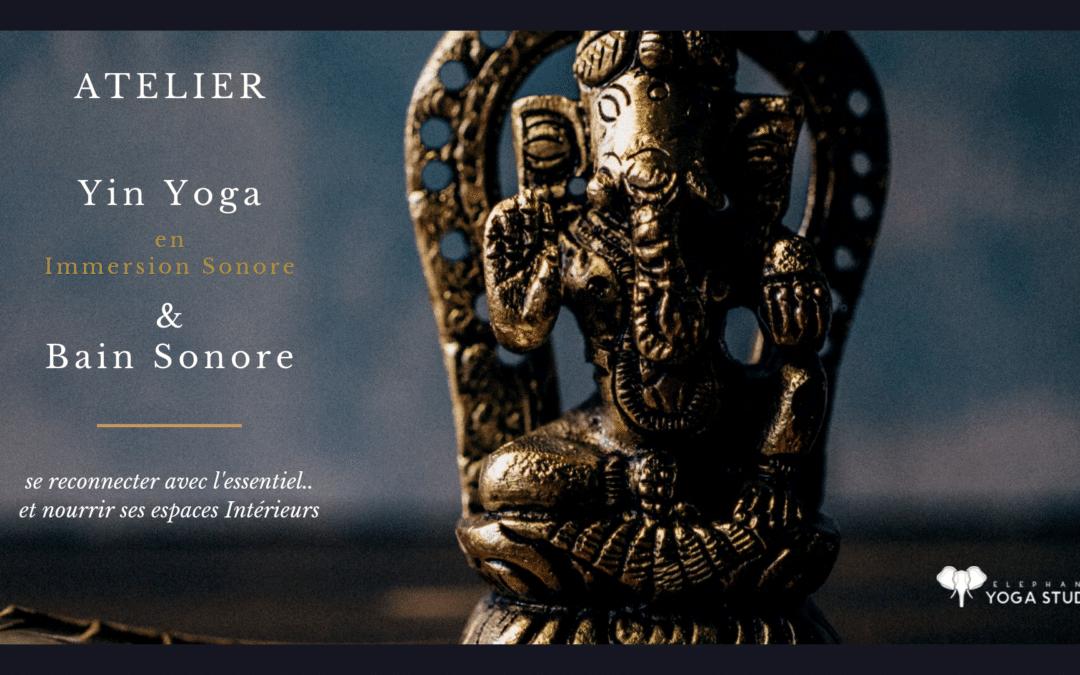Atelier Yin Yoga en Immersion Sonore – le dim 3 nov. 9h30