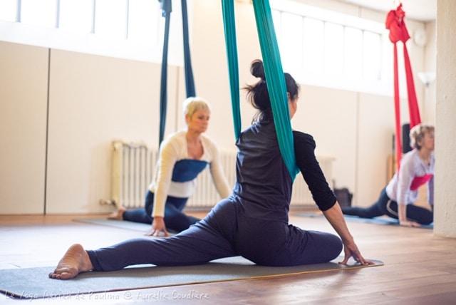 Ateliers yoga aériens du samedi 15h-16h40 : 15 février et 14 mars