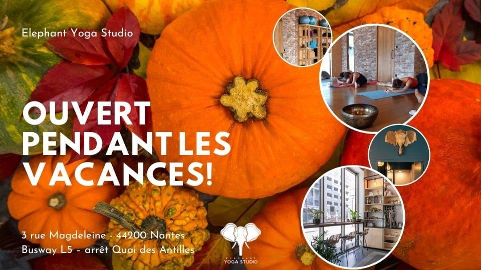 cours de yoga à Nantes automne 2020