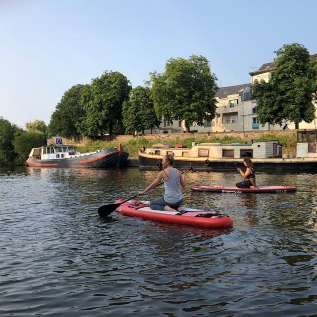 paddle yoga sur l'Erdre à Nantes